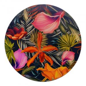 Тарелка подставная с изображением тропических цветов Bastide