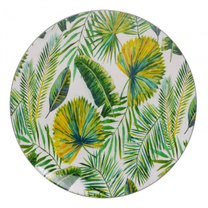 Тарелка подставная с изображением тропических листьев Bastide