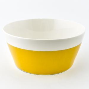 Салатник жёлто-белый