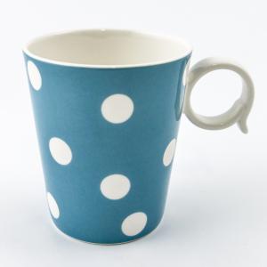 """Чашка голубого цвета """"Горошек"""""""
