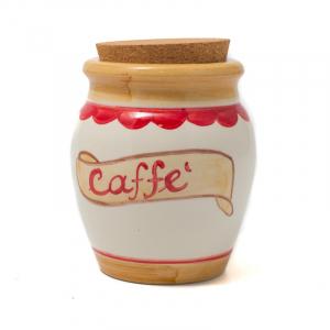 """Керамическая ёмкость с крышкой из пробкового дерева """"Кофе"""""""
