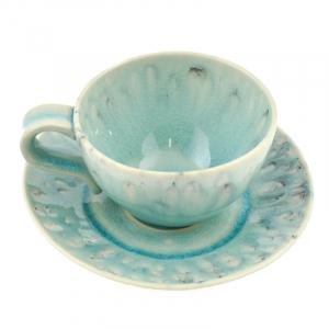 Голубая чашка с блюдцем для чая Madeira