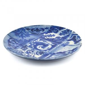 Тарелка синяя с узором Lisboa