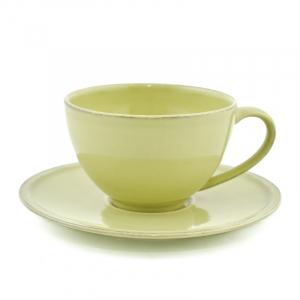Чашка зеленая с блюдцем Friso