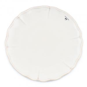 Тарелка обеденная белая из коллекции огнеупорной керамики Alentejo
