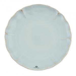 Тарелка обеденная бирюзовая из коллекции огнеупорной керамики Alentejo