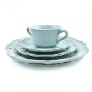 Комплект тарелок Impressions голубой