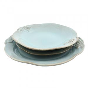 Комплект тарелок Mediterranea голубой