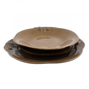 Комплект тарелок Mediterranea шоколадный