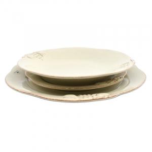 Комплект тарелок Mediterranea кремовый