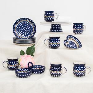 Сервиз чайный с тортовницей Волшебная синева