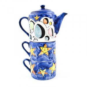 """Набор чайник и 2 чашки """"Ночное небо"""""""