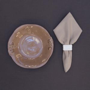 Салфетка тканевая коричневая