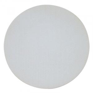 Обеденная белая тарелка Chevron