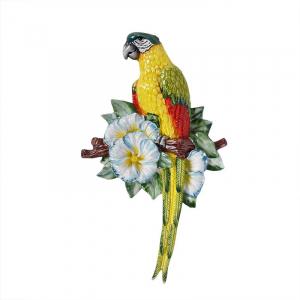 """Декор настенный """"Желтый попугай на веточке"""""""