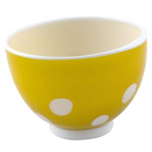 Пиала для супа желтая в горошек Bon bon