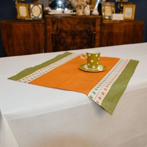 Полотенце кухонное зелено-оранжевое Busatti
