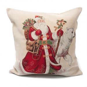 """Наволочка """"Дед Мороз и белый медведь"""""""
