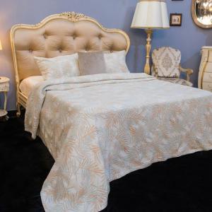 Покрывало бежевое + 2 наволочки 100% хлопок Cooper Villa Grazia Premium