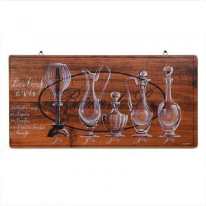 """Картина деревянная с детальным рисунком """"Графины для вина"""""""