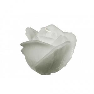 Свеча-роза серая