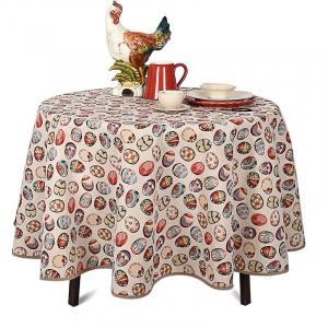 Скатерть на круглый стол «Пасхальный декор»