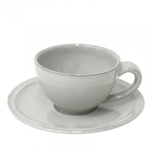 Чашки с блюдцем серые для кофе, набор 6 шт. Friso