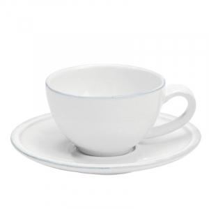 Чашки с блюдцем белые для кофе, набор 6 шт. Friso