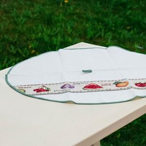 Полотенце вафельное круглое