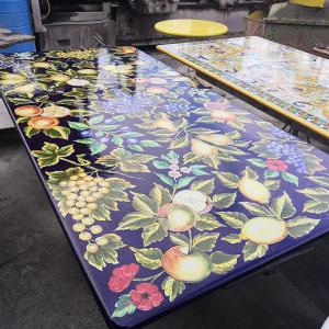 Прямоугольный стол Frutta Fondo Blu