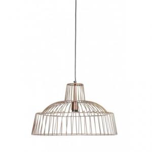 Подвесная лампа с решетчатым плафоном из металла