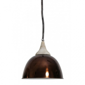 Подвесной светильник металлический медного цвета