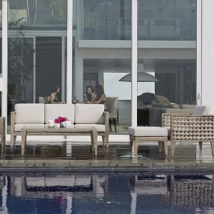 Комплект мебели для отдыха с фактурным плетением Heart