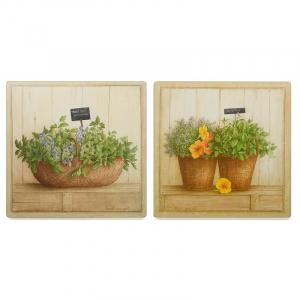 """Набор из 2-х картин с изображением зелени """"Пряные травы"""""""