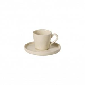 Чашка для чая бежевая с блюдцем, 6 шт. Lagoa