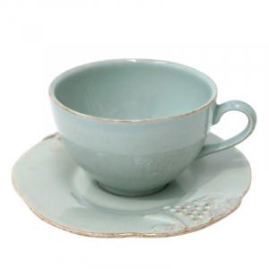 Чайные чашки с блюдцем, набор 6 шт. Mediterranea