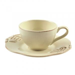 Чашки с блюдцем для кофе, набор 6 шт. Mediterranea