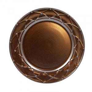 Тарелка обеденная Costa Nova Meridian металлик 27 см