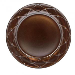 Тарелка для салата Costa Nova Meridian металлик 23 см