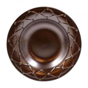 Тарелка для супа Costa Nova Meridian металлик 23 см
