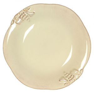 Тарелка суповая из огнеупорной керамики бежевой коллекции Mediterranea