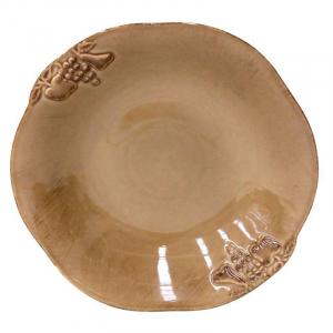 Тарелка для супа коричневая Mediterranea