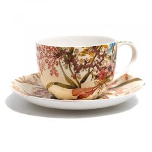 Чашка чайная с блюдцем Cottage Blossom