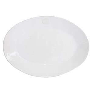 Блюдо среднее овальное белое Nova