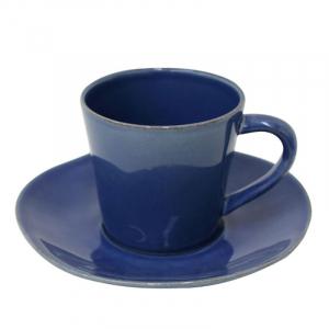 Синяя чашка с блюдцем для кофе Nova