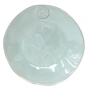 Десертная тарелка из глянцевой бирюзовой керамики коллекции Nova