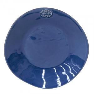 Синяя тарелка для супа из огнеупорной керамики Nova