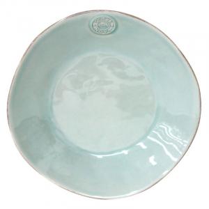 Тарелка суповая из огнеупорной керамики бирюзового оттенка Nova