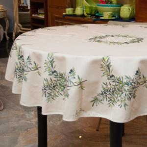 Скатерть Олива с тефлоновым покрытием