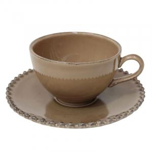 Чашки чайные с блюдцем, набор 6 шт. Pearl